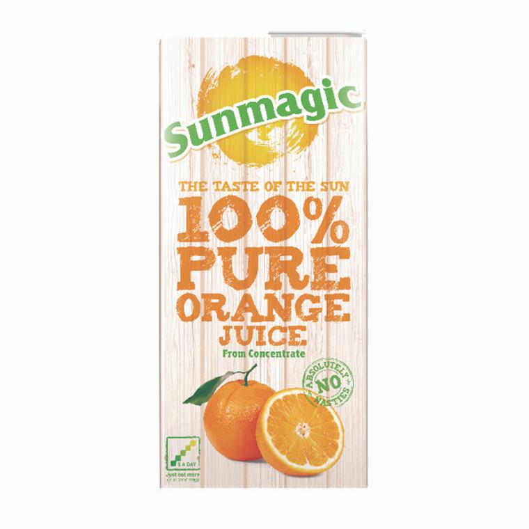 BZ04167 Pure Orange Juice 1 Litre Cartons Pack 12 A08067