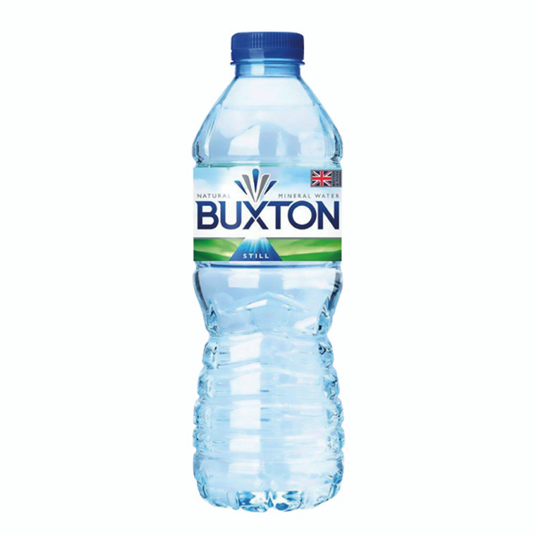 NL10016 Buxton Still Mineral Water 50cl Plastic Bottles Pack 24 12020200