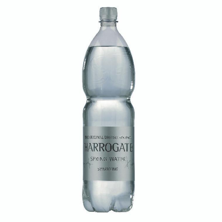 HSW35118 Harrogate Spring Bottled Water Sparkling 1 5L PET Silver Label Cap Pack 12 P150122C