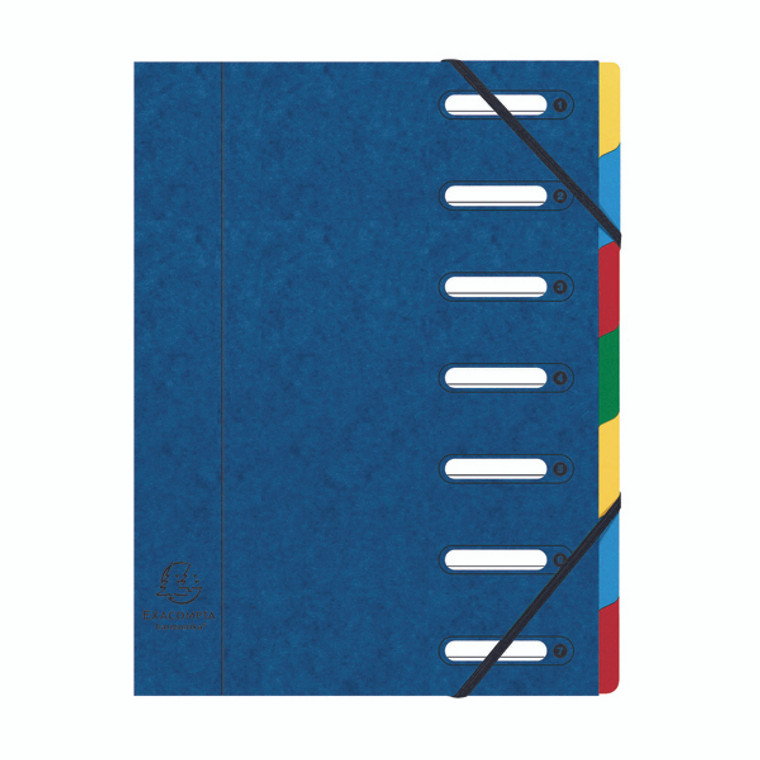 GH55072 Exacompta Harmonika 7-Part File A4 Blue 55072E