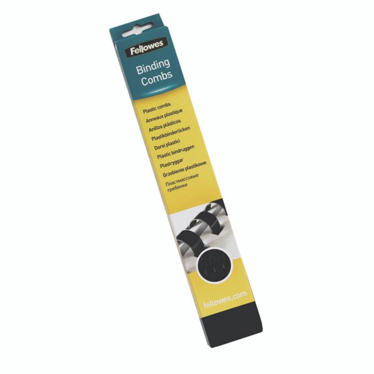 BB53473 Fellowes A4 Binding Combs 16mm Black Pack 100 5347302