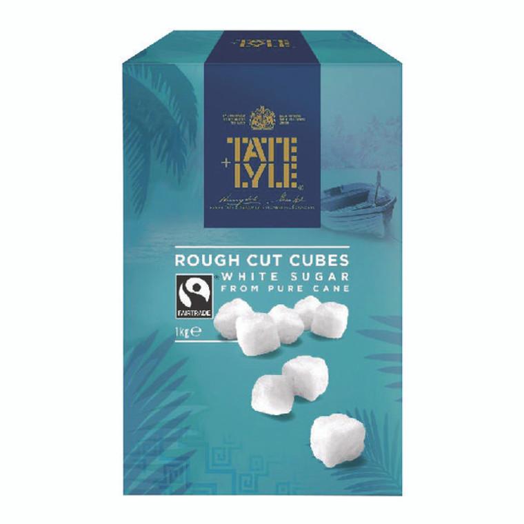 BZ91180 Tate Lyle Rough Cut White Sugar Cubes 1kg A03902