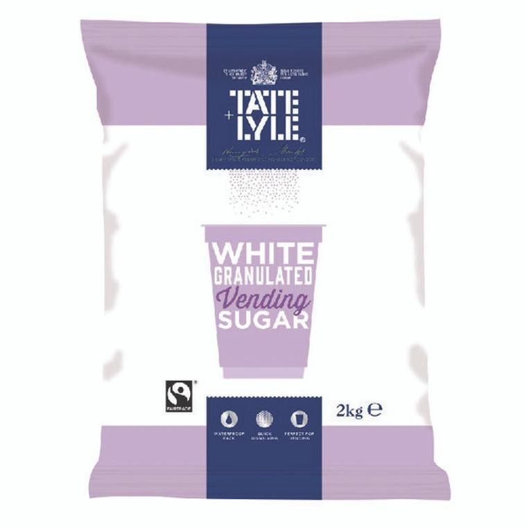 AU01323 Tate Lyle White Vending Sugar 2kg Pack 6 A00696PACK