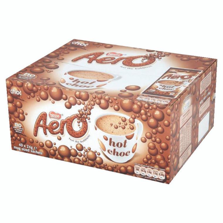 NL49335 Nestle Aero Hot Drinking Chocolate 24g Pack 40 12203209
