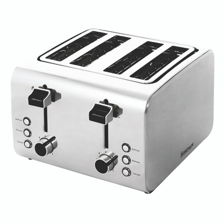 MK9795 Igenix Toaster 4-Slice Stainless steel finish with varying heat settings FCL4001 H