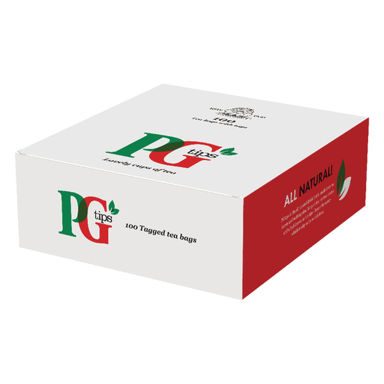 VF02184 PG Tips Tagged One Cup Tea Bags Pack 100 1004539