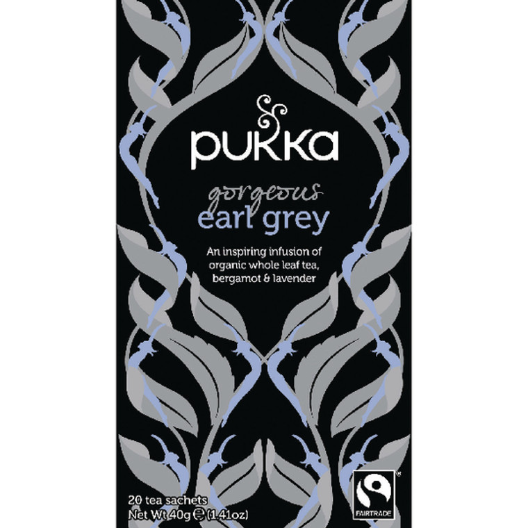 PK01158 Pukka Gorgeous Earl Grey Fairtrade Tea Pack 20 P5052