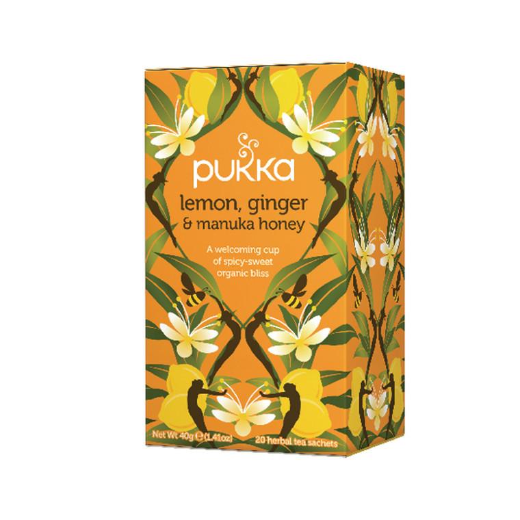 PK01153 Pukka Lemon Ginger Manuka Tea Pack 20 P5049