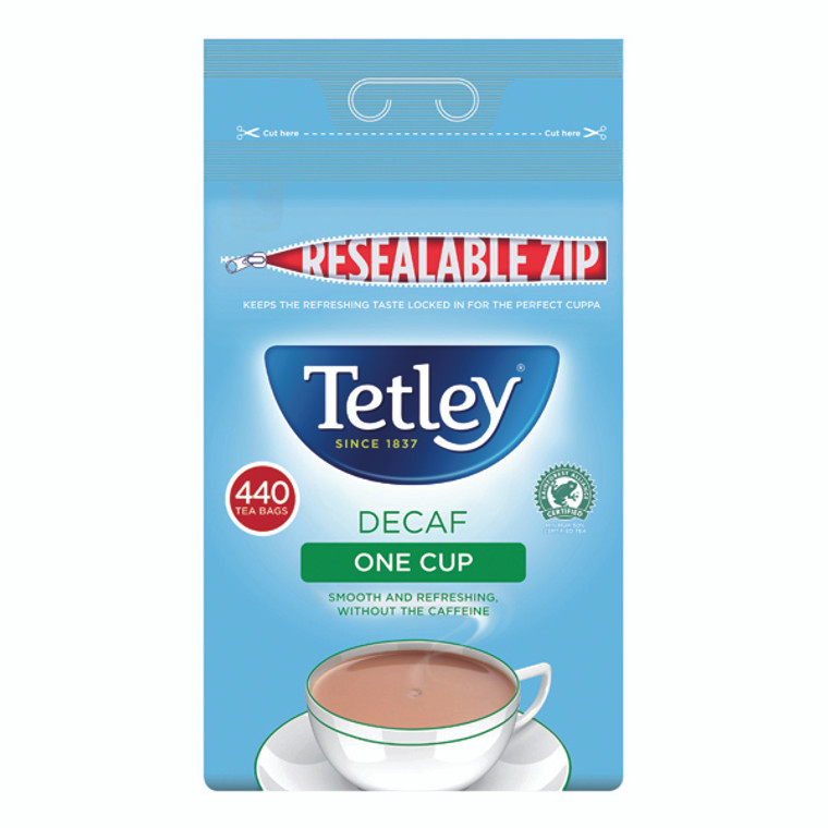 TL08755 Tetley One Cup Decaffeinated Tea Bags Pack 440 1800A