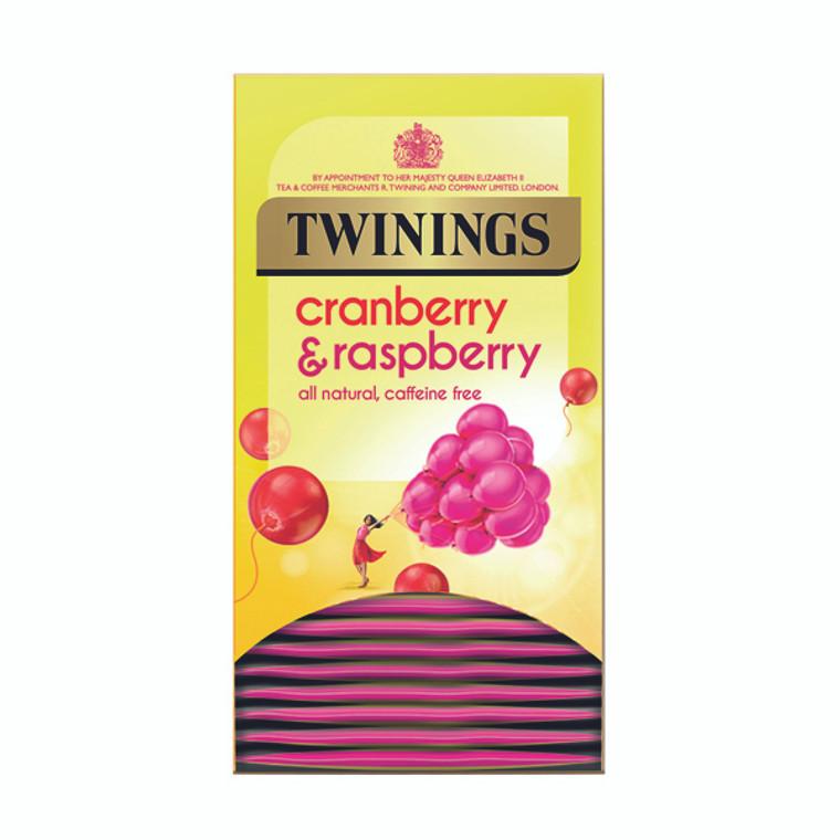 TQ24853 Twinings Cranberry Raspberry Elderflower Tea Bags Pack 20 F09614