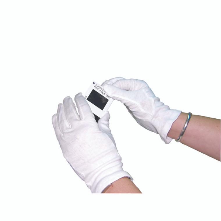 HEA00697 White Knitted Cotton Medium Gloves Pack 20 GI NCWO