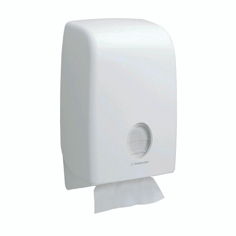 KC01197 Aquarius Folded Hand Towel Dispenser White 6945