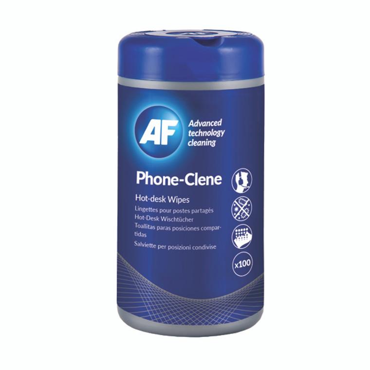 AFI50104 AF Phone-Clene Telephone Wipes Tub Pack 100 APHC100T