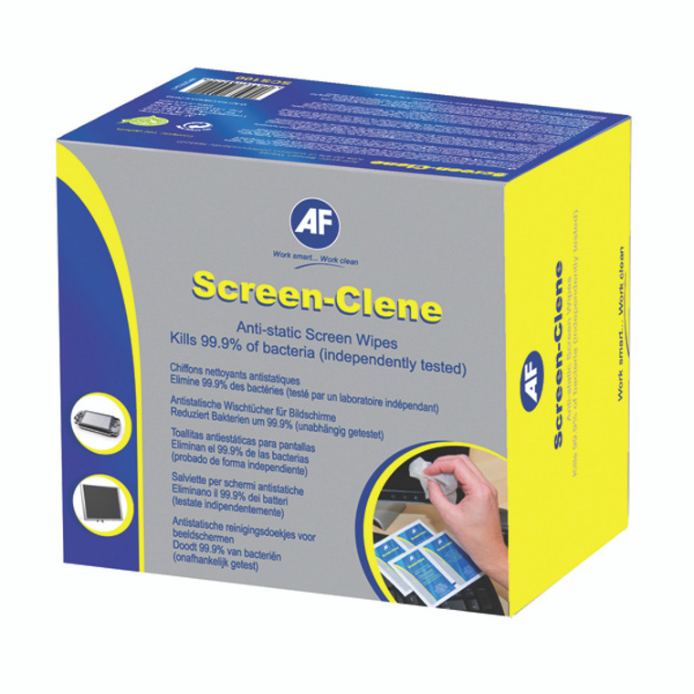 AFI50018 AF Screen-Clene Duo Wet Dry Wipes Pack 20 ASCR020