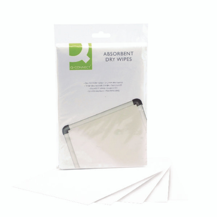 KF04506 Q-Connect Lint Free Absorbent Wipes Pack 20 KF04506