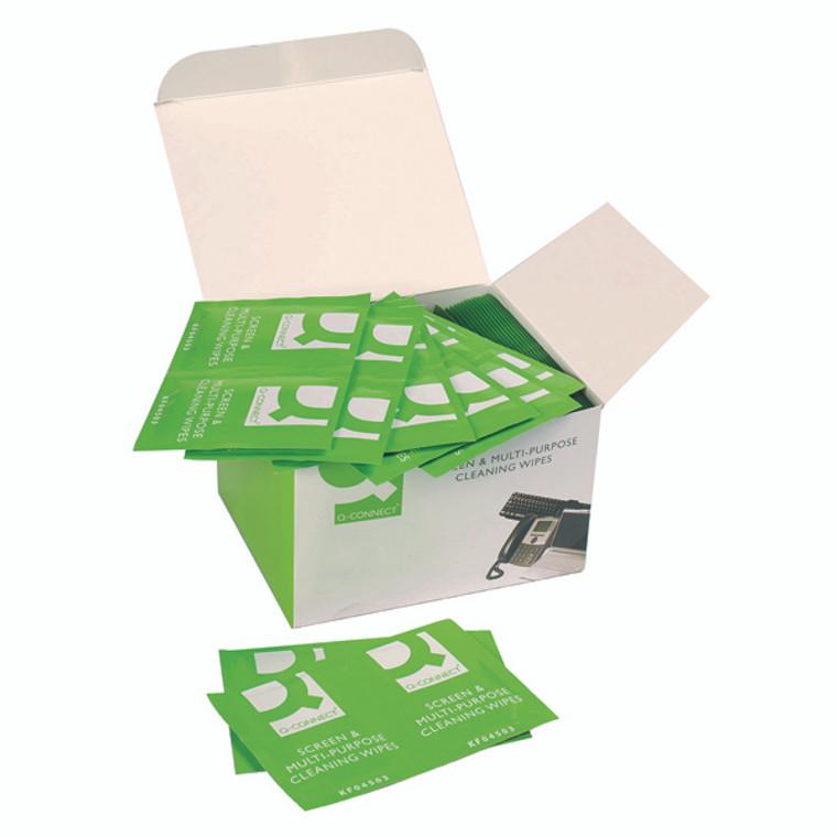 KF04503 Q-Connect Screen Multi-Purpose Wipes Pack 100 KF04503