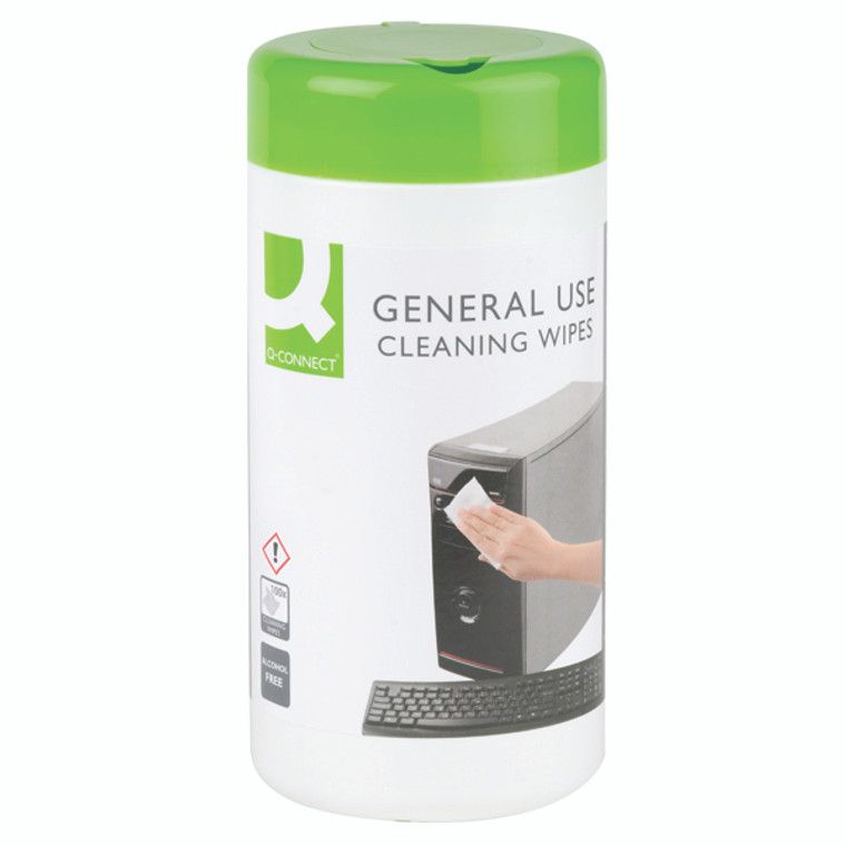KF04508 Q-Connect General Use Cleaning Wipes Pack 100 KF04508