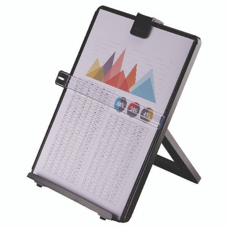 BB21106 Fellowes Workstation Document Holder Black Removable line guid easy referencing 21106