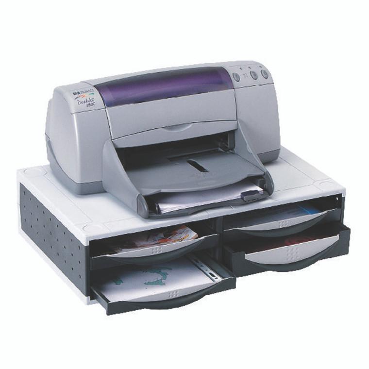 BB24004 Fellowes Machine Organiser Platinum Grey 24004