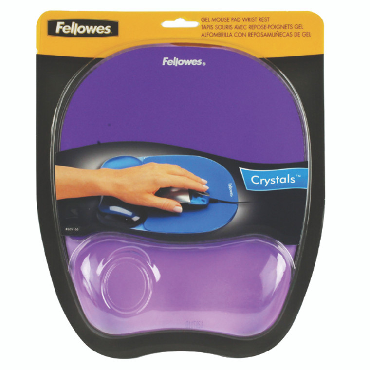 BB91441 Fellowes Crystals Gel Mouse Pad Purple 9144103