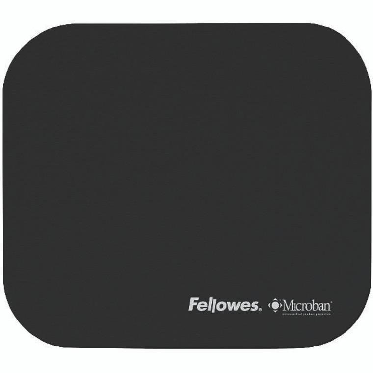 BB48718 Fellowes Microban Antibacterial Mouse Mat Black 5933905