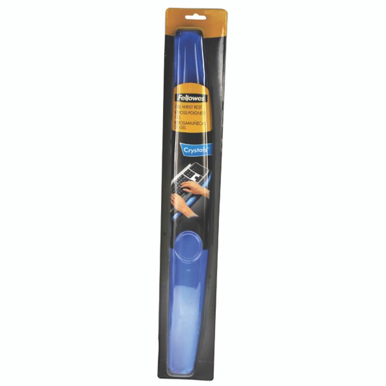 BB91137 Fellowes Crystals Gel Wrist Rest Blue 9113701