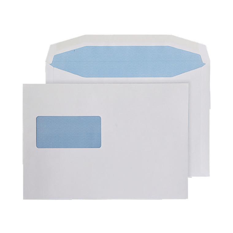 KF71434 Q-Connect Machine Envelope 162x238mm Window Gummed 80gsm White Pack 500 KF71434