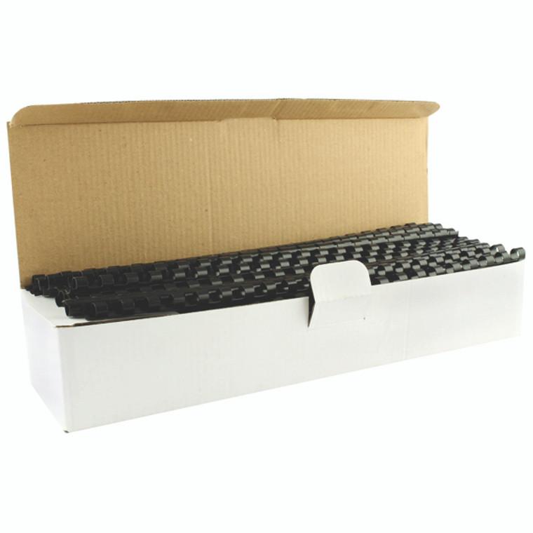 KF24018 Q-Connect Black 8mm Binding Combs Pack 100 KF24018