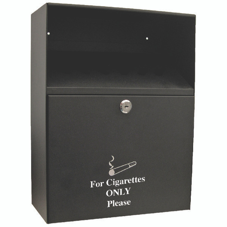 KF04386 Q-Connect Ash Bin Black 7 Litre KF04386