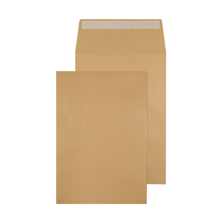 KF3527 Q-Connect Envelope Gusset 324x229x25mm Peel Seal 120gsm Manilla Pack 100 KF3527