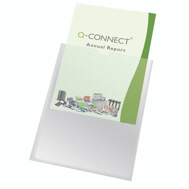 KF01947 Q-Connect Card Holder Polypropylene A4 Pack 100 KF01947