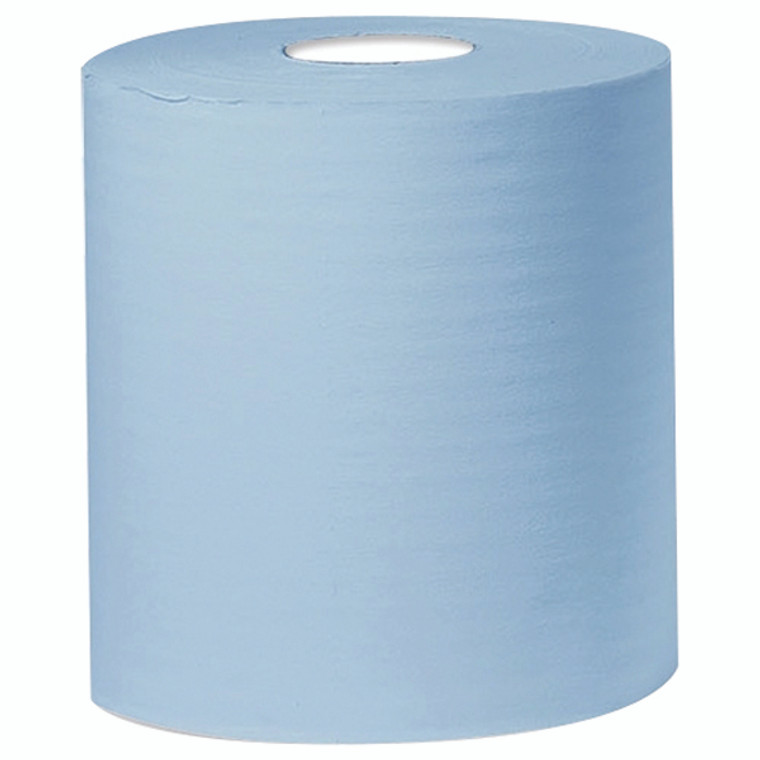 KF03805 2Work 2-Ply Centrefeed Roll 150m Blue Pack 6 KF03805