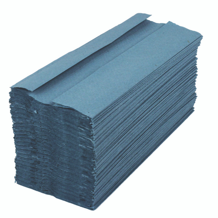 KF03800 2Work 1-Ply C-Fold Hand Towels Blue Pack 2880 HC128BLVW