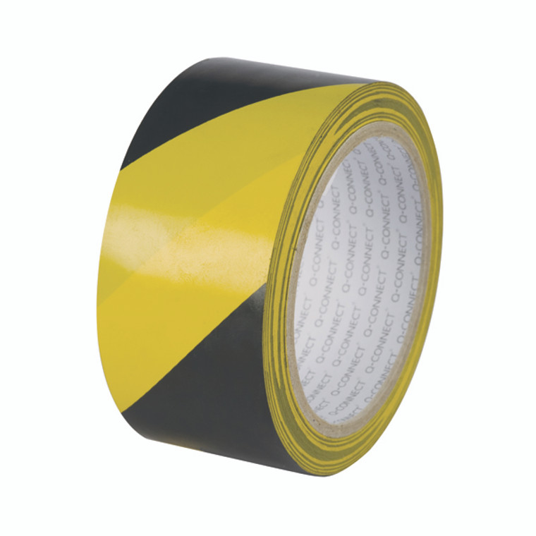 KF04383 Q-Connect Yellow Black Hazard Tape Pack 6 KF04383