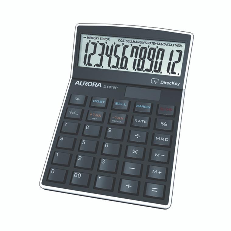 AO41553 Aurora Black 12-Digit Semi-Desk Calculator Enables profit sales calculations DT910P