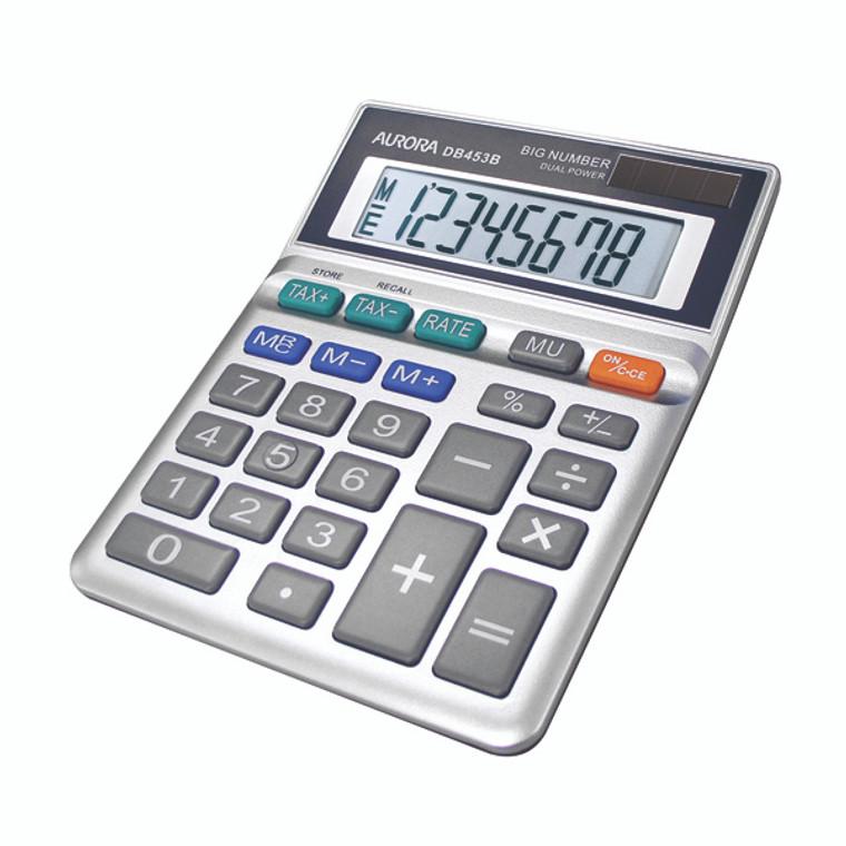 AO31023 Aurora Grey 8-Digit Semi-Desk Calculator DB453B