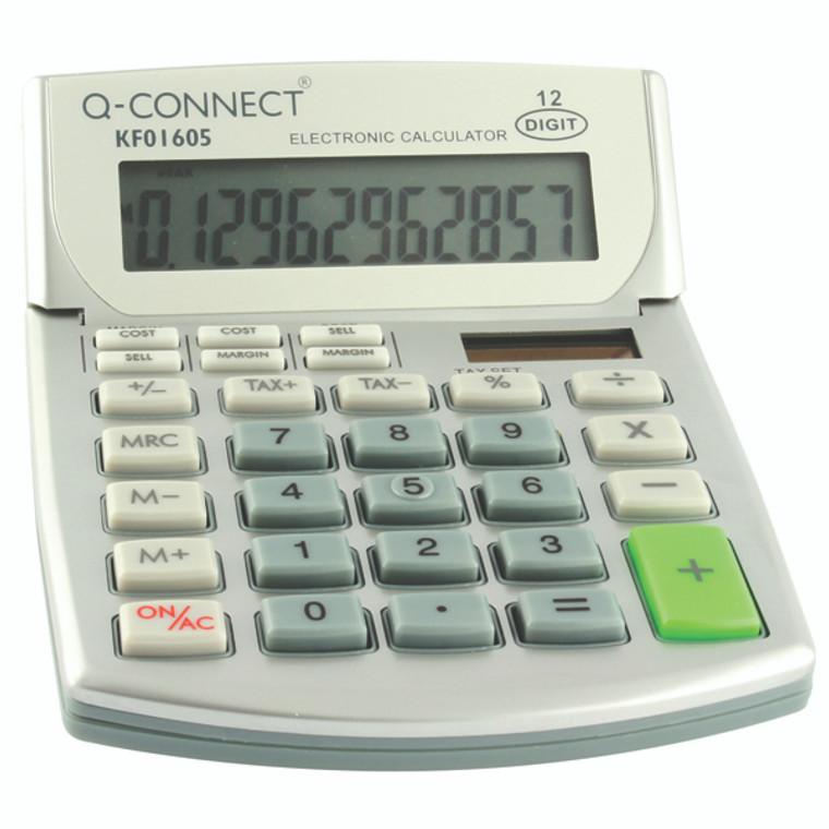 KF01605 Q-Connect Semi-Desktop Calculator 12-Digit KF01605