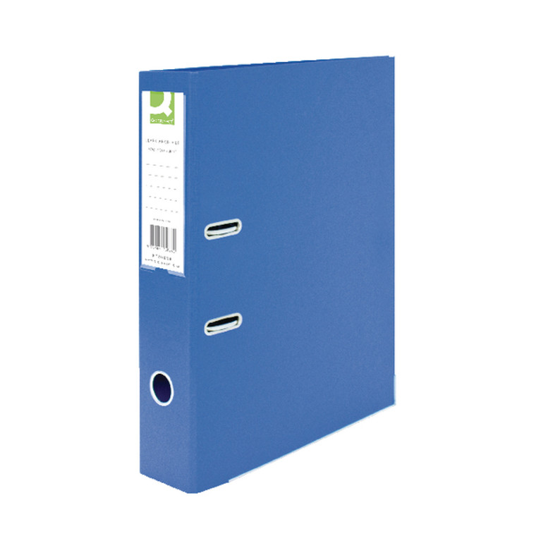 KF20026 Q-Connect 70mm Lever Arch File Polypropylene Foolscap Blue Pack 10 KF20026