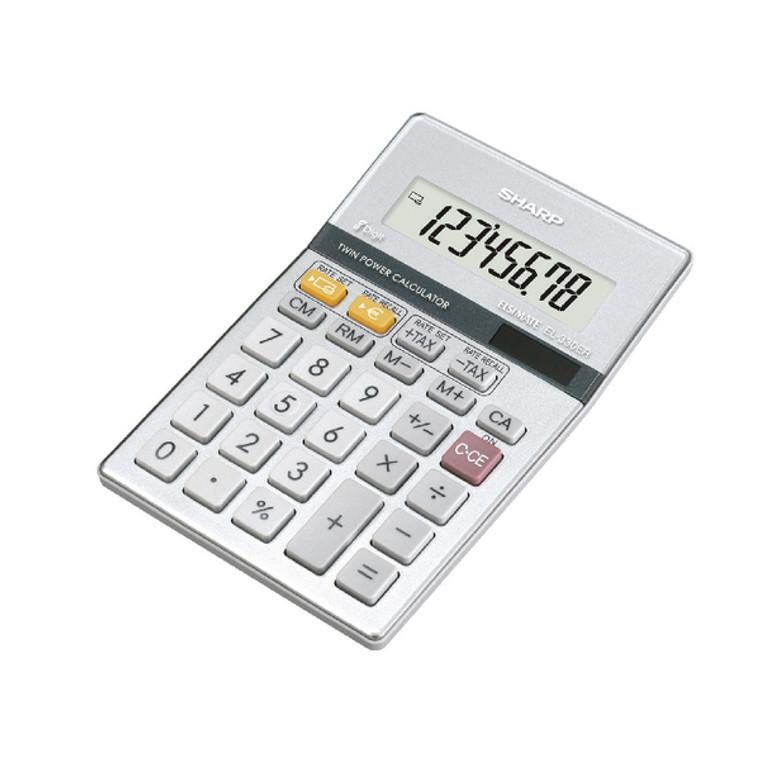SH02443 Sharp Silver 8-Digit Semi-Desktop Calculator EL-330ERB