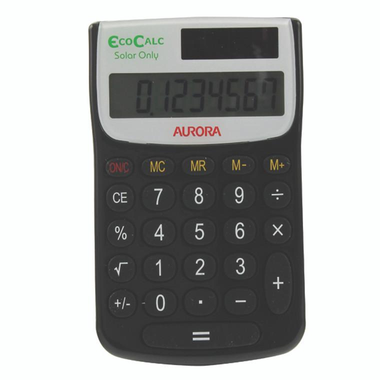 AO41441 Aurora Black White 8-Digit Handheld Calculator EC101