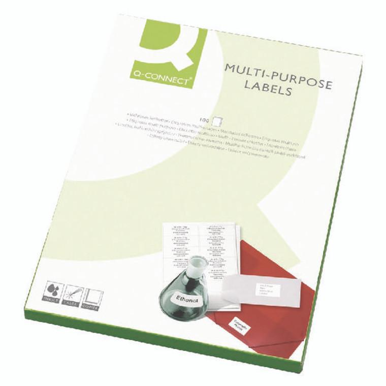 KF01131 Q-Connect Multipurpose Copier Labels 105x42mm 14 Per Sheet White Pack 1400 KF01131