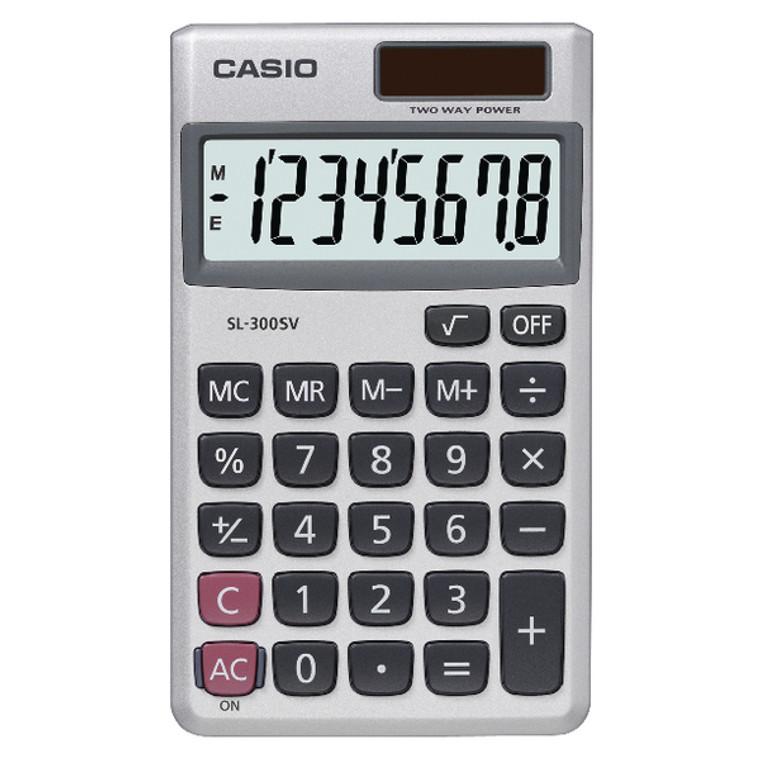 CS16781 Casio Pocket Calculator 8-Digit SL-300SV