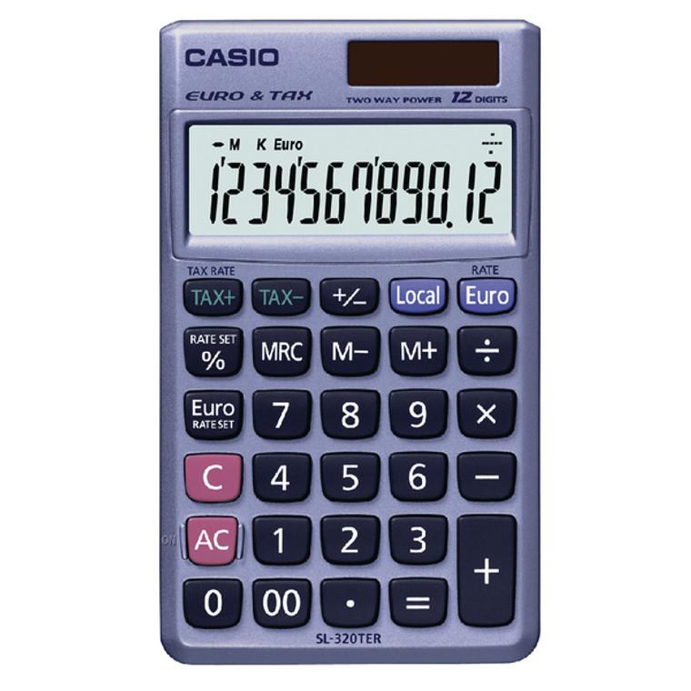 CS17267 Casio Pocket Calculator 12-Digit SL-320TER
