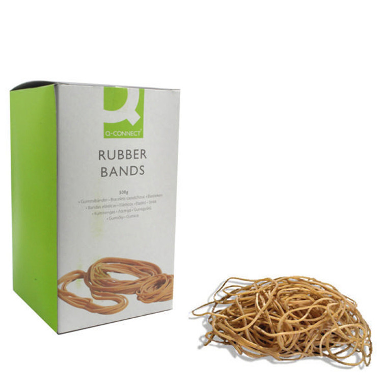 KF10549 Q-Connect Rubber Bands No 64 88 9 x 6 3mm 500g KF10549