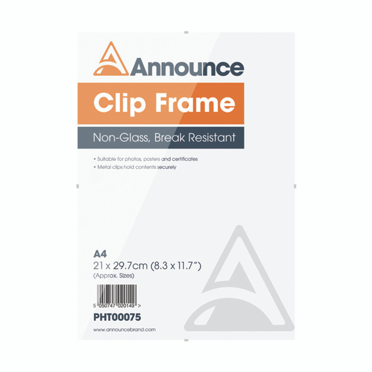 PHT00075 Announce Metal Clip Frame A4 PHT00075