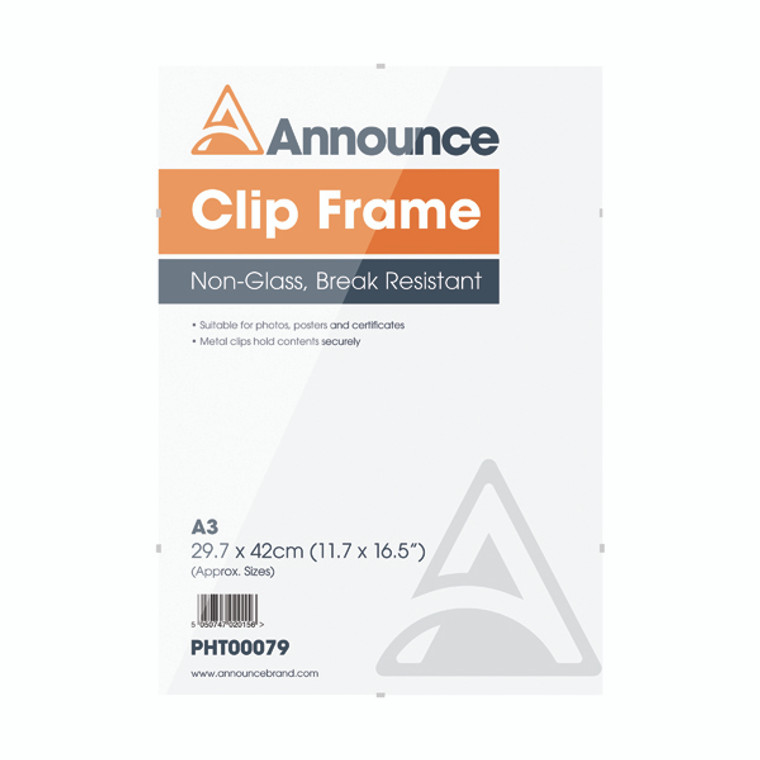 PHT00079 Announce Metal Clip Frame A3 PHT00079