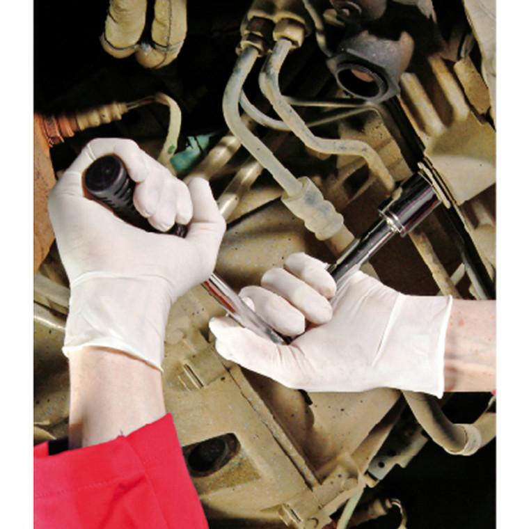 HEA00396 Shield Powder-Free Natural Small Latex Gloves Pack 100 GD05