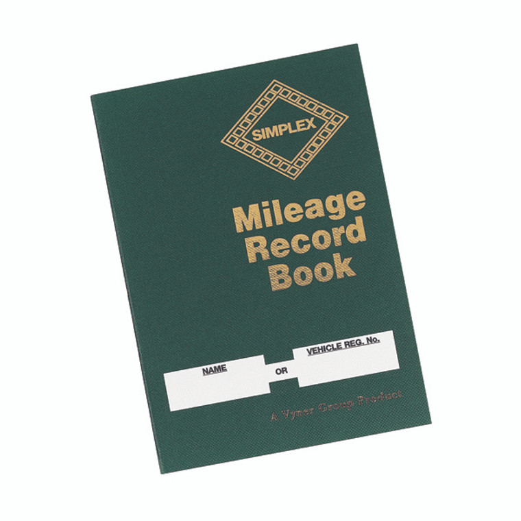 SX10809 Simplex Mileage Record Book Made from 100 recycled paper Hardback cover MRB