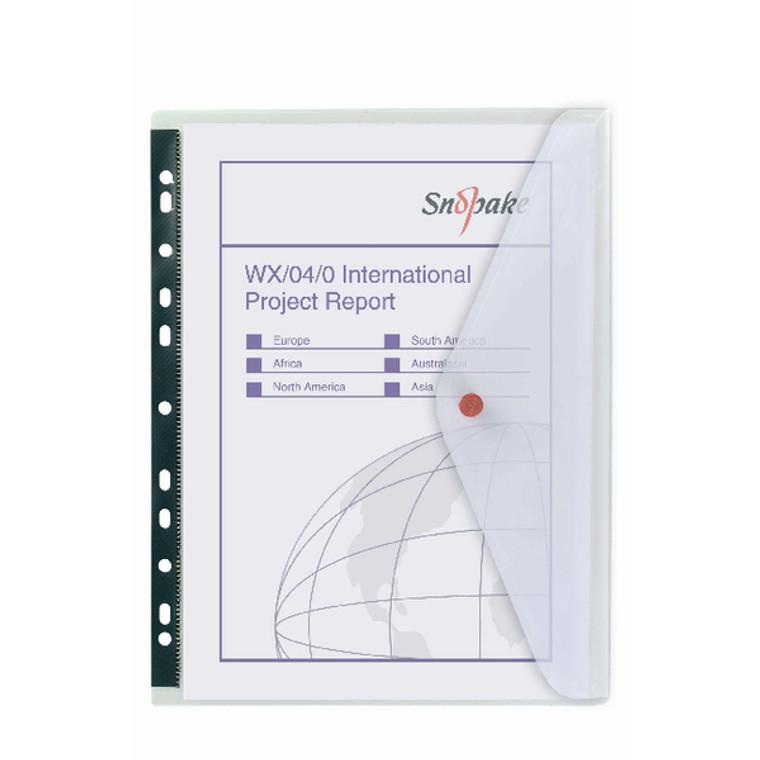 SK12566 Snopake Polyfile Ring Binder Wallet A4 Clear Pack 5 12566