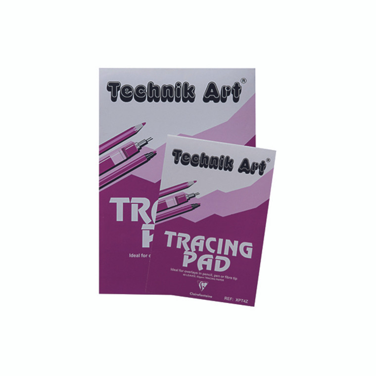 CH21030 Clairefontaine Technik Art Tracing Pad 63gsm A4 40 Sheets XPT4